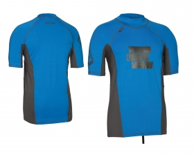 TOP LYCRA RASHGUARD MEN SS BLUE